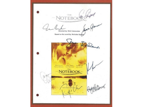 The Notebook Movie Script Signed Screenplay Autographed Rachel McAdams, Ryan Gosling, Gena Rowlands, James Garner, Sam Shepard