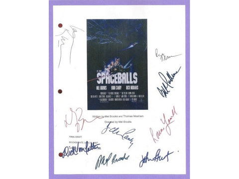 Spaceballs Movie Script Signed Screenplay Autographed Mel Brooks, Joan Rivers, Rick Moranis, Bill Pullman, John Candy, Lorene Yarnell