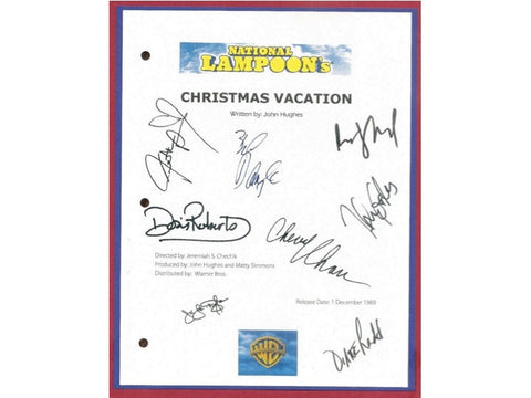 National Lampoon's Christmas Vacation Movie Script Signed Screenplay Autographed Chevy Chase, Beverly D'Angelo Julia Louis-Dreyfus