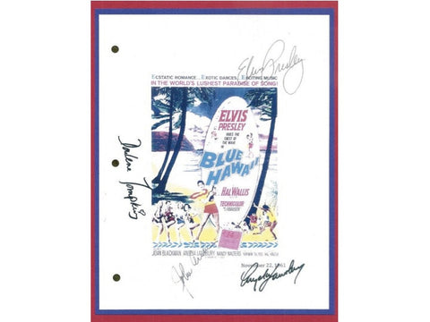 Blue Hawaii Movie Script Signed Autographed Elvis Presley,Hal Kantor, Angela Lansbury, Darlene Tompkins, John Archer