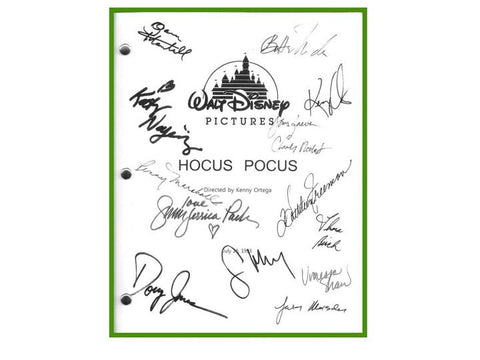 Hocus Pocus Movie Script Signed Screenplay Autographed: Kenny Ortega, Bette Midler, Sarah Jessica Parker, Kathy Najimy, Thora Birch