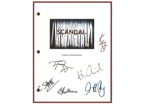 Scandal Entire Pilot TV Episode Autographed: Kerry Washington, Jeff Perry, Columbus Short, Tony Goldwyn, Henry Ian Cusick, Guillermo Diaz