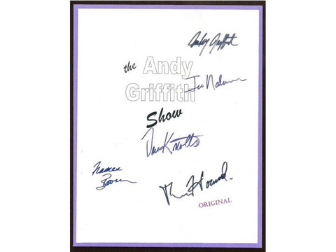 The Andy Griffith Show Entire TV Script Autographed: Andy Griffith, Ron Howard, Don Knotts, Frances Bavier, Jim Nabors