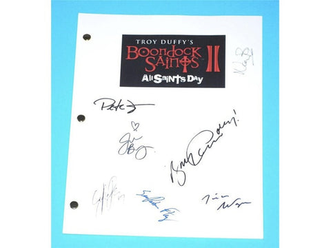 The Boondock Saints II Movie Script Autographed: Sean Patrick Flanery, Norman Reedus, Billy Connolly, Peter Fonda, Troy Duffy, Julie Benz