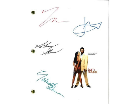 "Burn Notice ""Pilot"" Episode TV Script Screenplay Autographed: Jeffrey Donovan, Bruce Campbell, Gabrielle Anwar, Sharon Gless"