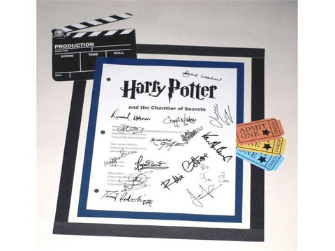 Harry Potter And The Chamber of Secrets Signed: Daniel Radcliffe, Rupert Grint, Emma Watson, Richard Harris, Kenneth Branagh, John Cleese