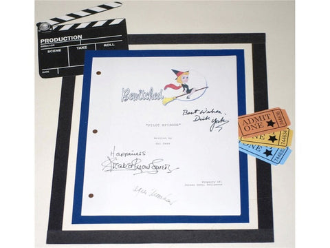 "Bewitched ""Pilot"" Episode TV Script Screenplay Autographed: Elizabeth Montgomery, Dick York, Agnes Moorehead"