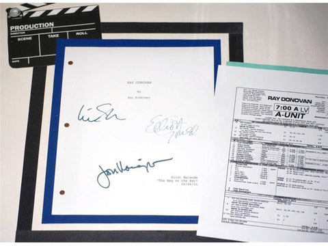 "Ray Donovan Pilot Episode Script and Call Sheet for ""Same Exactly"" Episode TV Script Autographed: Liev Schreiber, Jon Voight, Elliott Gould"