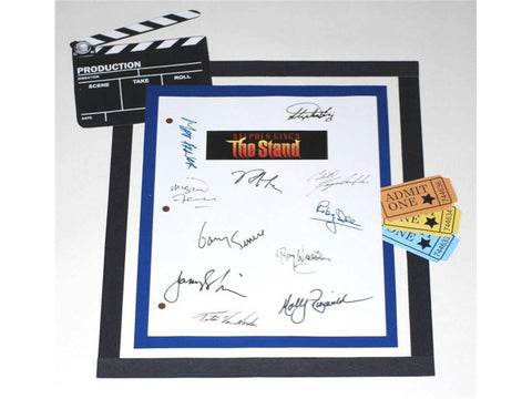 The Stand Movie Screenplay Script Autographed Stephen King, Molly Ringwald, Rob Lowe, Gary Sinese, Jamey Sheridan, Ruby Dee, Miguel Ferrer