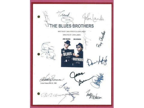 The Blues Brothers Signed Movie Script Rpt John Belushi  Dan Aykroyd