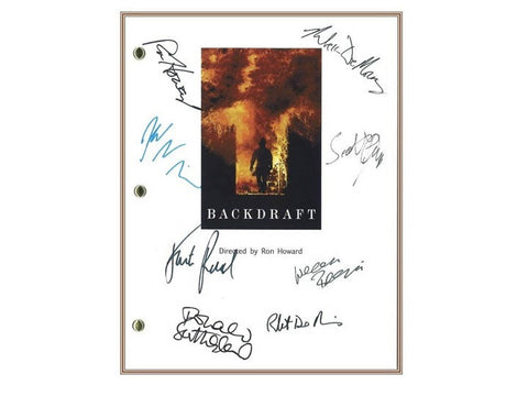 Backdraft Movie Script Signed Screenplay Autographed: Ron Howard, Kurt Russell, Donald Sutherland, Robert De Niro, Jennifer Jason Leigh