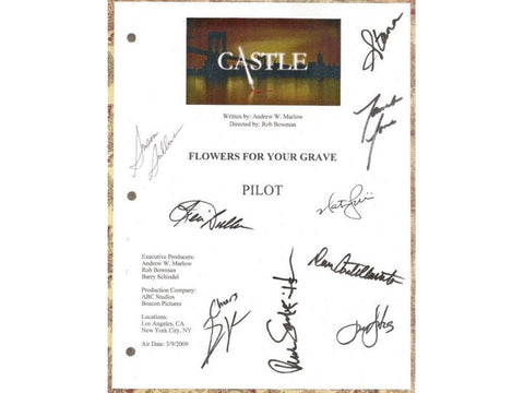Castle Pilot Episode TV Script Screenplay Autograph: Stana Katic, Susan Sullivan, Nathan Fillion, Ruben Santiago-Hudson, James Patterson