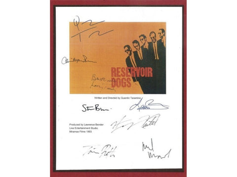 Reservoir Dogs Entire Movie Script Screenplay Autographed: Quentin Tarantino, Lawrence Bender, Harvey Keitel, Steve Buscemi, Tim Roth