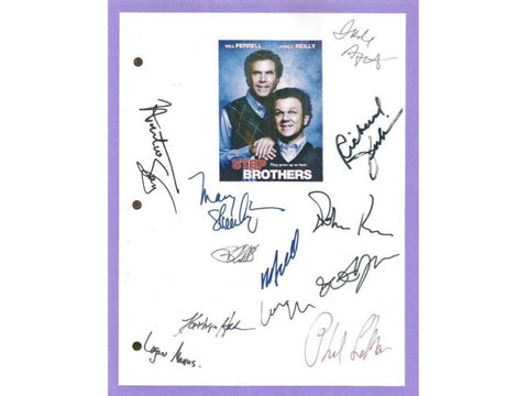 Step Brothers Entire Movie Script Screenplay by Adam McKay & Will Ferrell Signed: Will Ferrell, John C. Reilly, Richard Jenkins, Seth Rogan