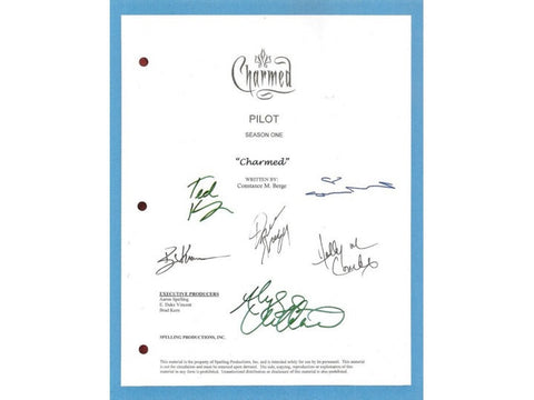 Charmed Pilot Episode TV Script Screenplay Autograph: Alyssa Milano, Shannon Doherty, Holly Marie Combs, Dorian Gregory, Ted King