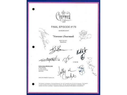 "Charmed Final Episode ""Forever Charmed"" TV Script Autographed: Alyssa Milano, Rose McGowen, Holly Marie Combs, Kaley Cuoco, Brian Krause"