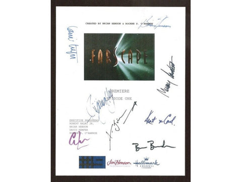 Farscape Pilot Episode TV Script Autographed: Brian Henson, Ben Browder, Claudia Black, Virginia Hey, Anthony Simcoe, Lani Tupo,Kent Mccord