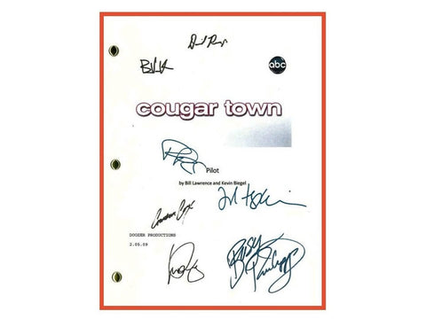Cougar Town Pilot Episode TV Script Autographed: Courteney Cox, Dan Byrd, Ian Gomez, Josh Hopkins, Busy Philipps, Brian Van Holt