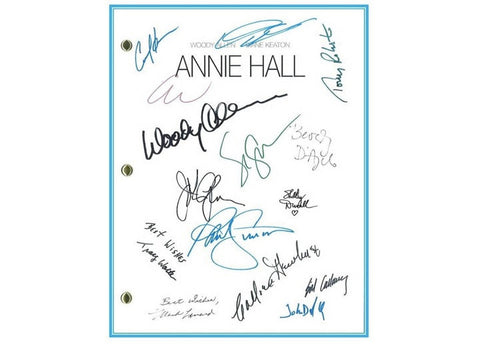 Annie Hall Movie Script Signed Screenplay Autographed: Woody Allen, Diane Keaton, Tony Roberts, Carol Kane, Paul Simon, Shelley Duvall