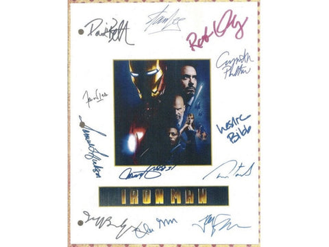 Iron Man Movie Script Signed Screenplay Autographed: Jon Favreau, Robert Downey Jr., Terrence Howard, Samuel L. Jackson, Stan Lee