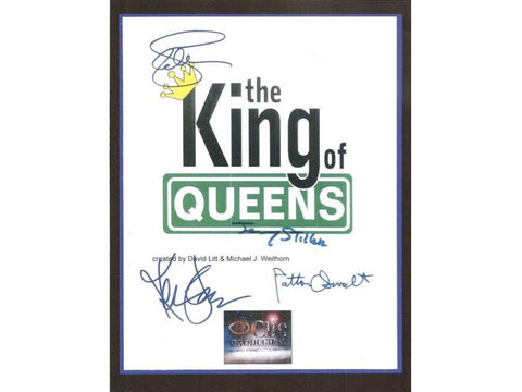 The King of Queens Pilot Episode TV Script Signature Autographs: Kevin James, Leah Remini, Jerry Stiller, Patton Oswalt