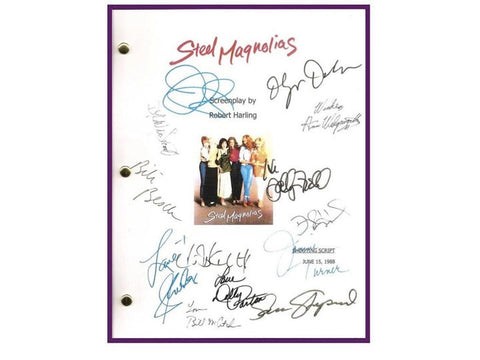 Steel Magnolias Movie Script Autographed Signed: Sally Field, Shirley Maclaine, Daryl Hannah, Julia Roberts, Olympia Dukakis, Tom Skerritt