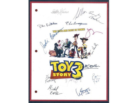 Toy Story 3 Movie Script Autographed Signed: Tom Hanks, Tim Allen, Joan Cusack, Ned Beatty, Don Rickles, Michael Keaton, Whoopi Goldberg