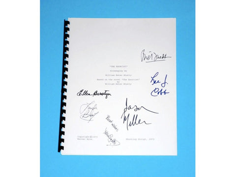 The Exorcist Movie Signed Script Screenplay Autographed: Ellen Burstyn, Linda Blair, Max Von Sydow, Jason Miller, Lee J. Cobb