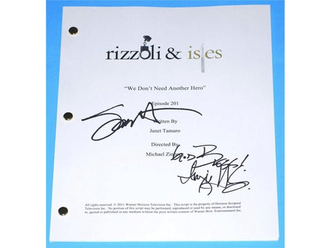 "Rizzoli & Isles ""We Don't Need Another Hero"" Episode #201 TV Script Autographed: Angie Harmon, Sasha Alexander"