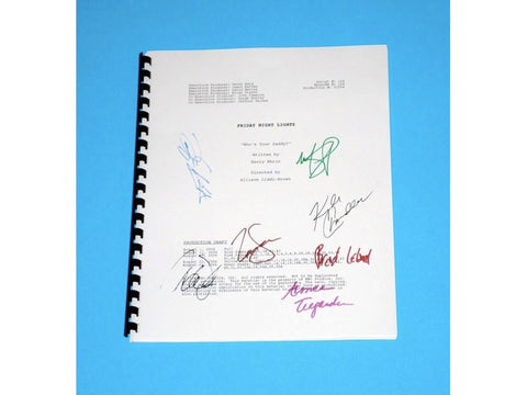 "Friday Night Lights Episode ""Who's Your Daddy?"" TV Script, Autographed: Zach Gilford, Taylor Kitsch, Scott Porter, Kyle Chandler and More"