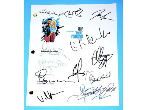 True Romance Movie Script Signed Screenplay Autographed: Quentin Tarantino, Christian Slater, Dennis Hopper, Samuel Jackson, Brad Pitt