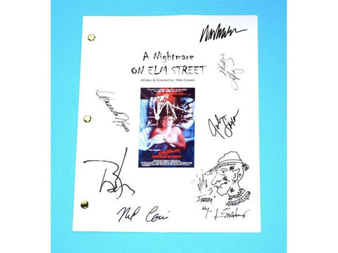 A Nightmare on Elm Street Movie Signed Script Screenplay Autographed Wes Craven, John Saxon, Heather Langenkamp, Johnny Depp and More...