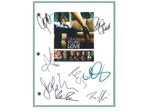 Crazy, Stupid, Love Movie Script Signed Screenplay Autographed: Steve Carell, Ryan Gosling, Julianne Moore, Emma Stone, Kevin Bacon