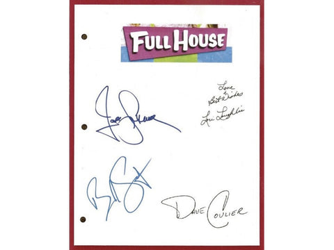 "Full House ""The First Day of School"" Episode TV Script Autographed: John Stamos, Bob Saget, Dave Coulier, Lori Loughlin"