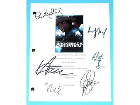 Brokeback Mountain Movie Script Signed Screenplay Autographed: Ang Lee, Heath Ledger, Jake Gyllenhaal, Anne Hathaway, Michelle Williams