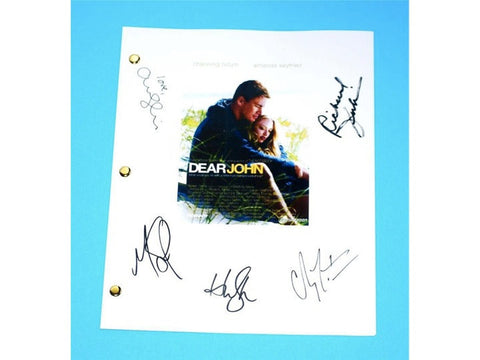 Dear John Movie Script Signed Screenplay Autographed: Channing Tatum, Amanda Seyfried, Scott Porter, Richard Jenkins, Henry Thomas