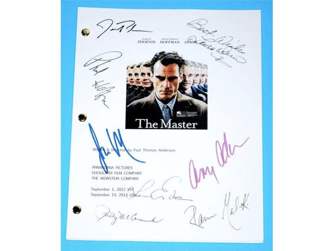The Master Movie Script Signed Screenplay Autographed: Joaquin Phoenix, Philip Seymour Hoffman, Amy Adams, Jesse Plemons, Rami Malek
