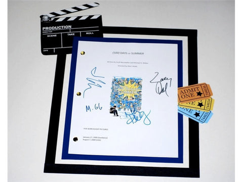 500 Days of Summer Movie Script Signed Screenplay Autographed: Joseph Gordon-Levitt, Zooey Deschanel, Minka Kelly, Matthew Gray Gubler