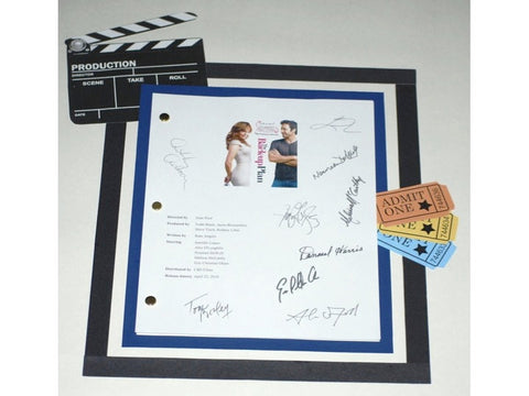 "The Back-Up Plan"" 2010 Movie Script Signed Screenplay Autographed: Jennifer Lopez, Alex O'Loughlin, Eric Christian Olsen, Noureen DeWulf"