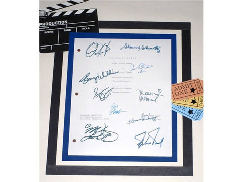 "The Brady Bunch ""Sorry, Right Number"" Pilot Episode TV Script Autographed: Robert Reed, Florence Henderson, Ann B. Davis, Barry Williams"
