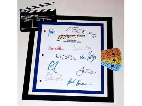 Indiana Jones and the Raiders of the Lost Ark Movie Script Signed Screenplay Autographed: Harrison Ford, Karen Allen, Stephen Spielberg