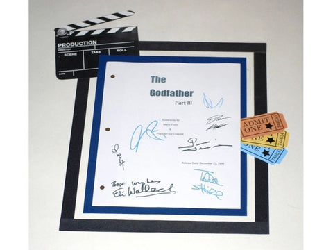 The Godfather III Movie Script Signed Screenplay Autographed: Al Pacino, Andy Garcia, Diane Keaton, Talia Shire, Eli Wallach