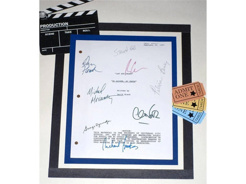 "Law & Order ""By Hooker, By Crook"" Episode TV Script Autographed: George Dzundza, Chris Noth, Richard Brooks, Michael Moriarty, Steven Hill"