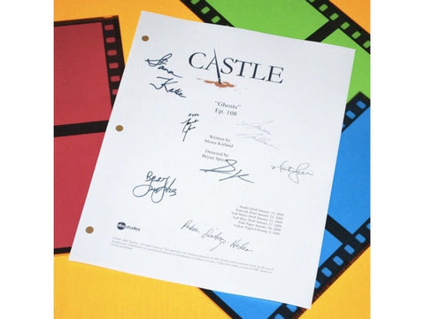 "Castle ""Ghosts"" Episode TV Script Autographed: Susan Sullivan, Tamala Jones, Ruben Santiago-Hudson, Stana Katic, Jon Huertas & More"