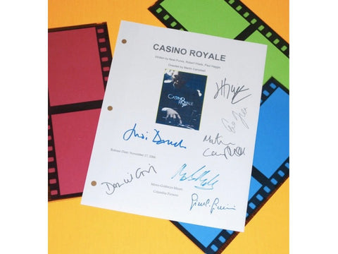Casino Royale Movie Script Signed Screenplay Autographed: Daniel Craig, Eva Green, Mads Mikkelsen, Judi Dench, Jeffrey Wright & More