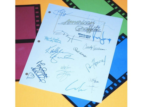 American Graffiti Movie Script Signed Screenplay Autographed: Ron Howard, Richard Dreyfuss, Paul Le Mat, Cindy Williams, Candy Clark & More