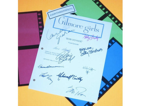 "Gilmore Girls ""Bon Voyage"" Final Episode TV Script Screenplay Autographed: Lauren Graham, Alexis Bledel, Sally Struthers, Scott Patterson"