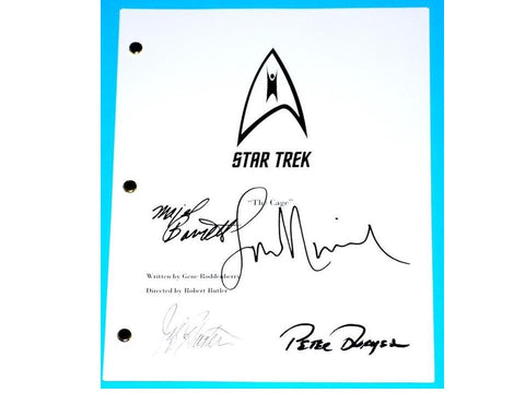 Star Trek The Cage signed Script Leonard Nimoy, Jeffrey Hunter