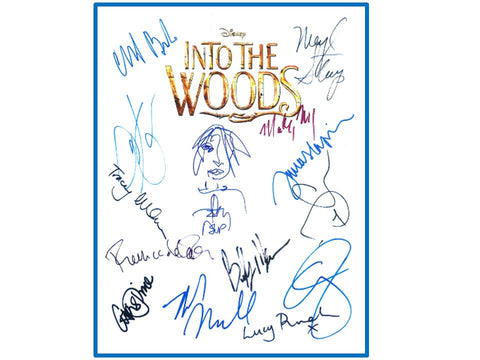 Into The Woods Movie Script Signed Meryl Streep, James Lapine, Rob Marshall, Chris Pine, Anna Kendrick, Johnny Depp Screenplay