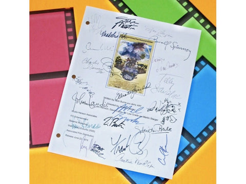 The Muppet Movie Signed Screenplay Autographed: Jim Henson, Charles Durning, Frank Oz, Austin Pendleton, Orson Wells, Edgar Bergen & More